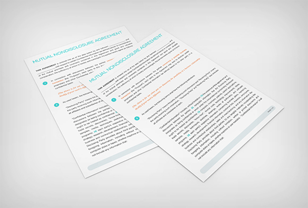 Mutual Nondisclosure Agreement Contract