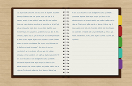 Notebook PSD With Tabs