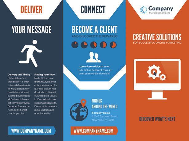Superb Online Marketing Brochure PSD
