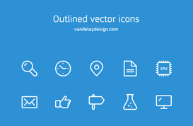 Simple Outline Icon Vectors