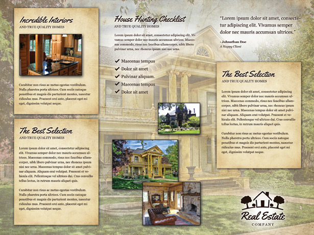Vintage Real Estate Brochure PSD