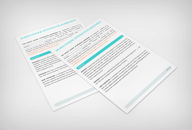 Search Engine Optimization Contract Template