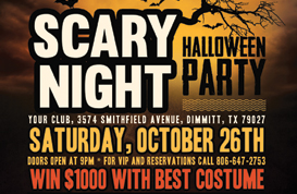Scary Halloween PSD Flyer