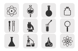 Gray Science Vector Icon Pack