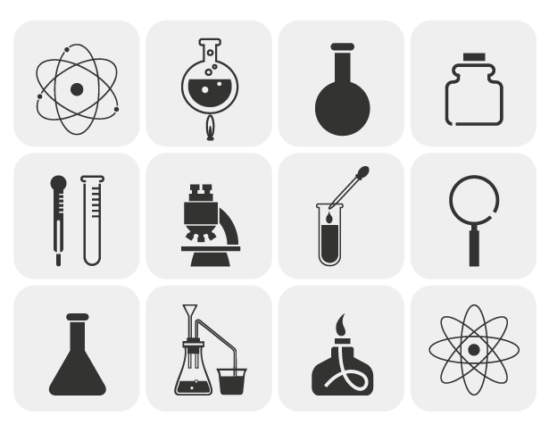 Grey Science Vector Icon Pack