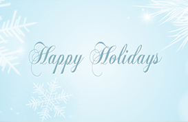 Snowflake Happy Holiday PSD Banners