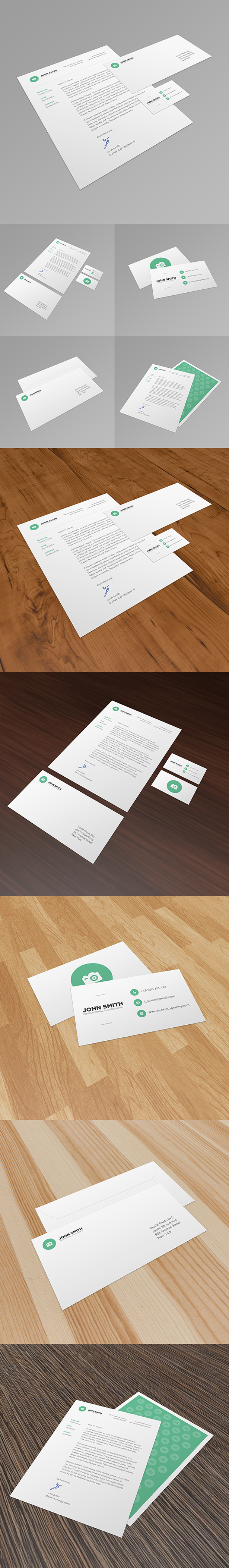Stationery Mockup PSD Pack