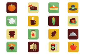Thanksgiving Vector Icons Pack