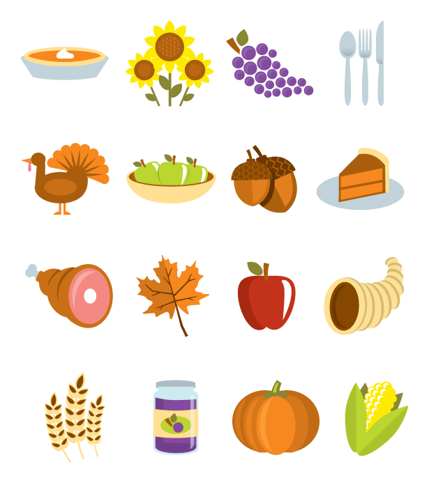 Thanksgiving Vector Icons Pack Two