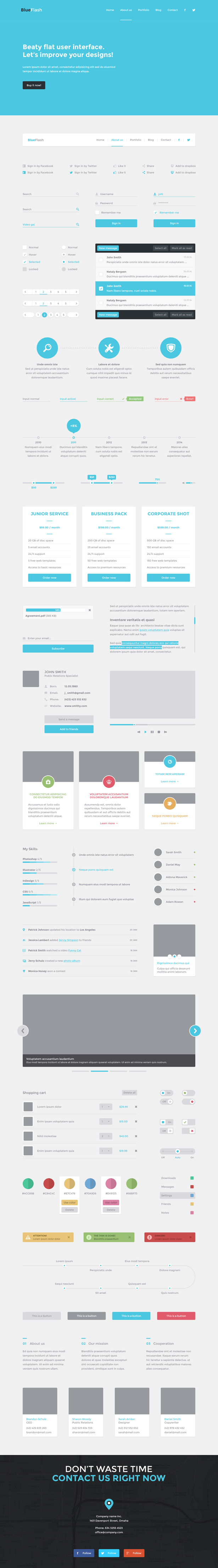 UI Kit PSD Four Pack
