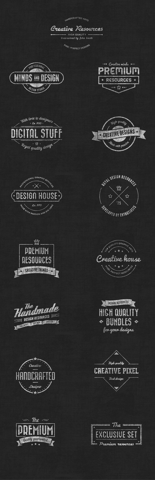 15 Vintage Badge Vectors