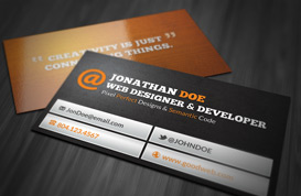 Web Designer Business Card PSD
