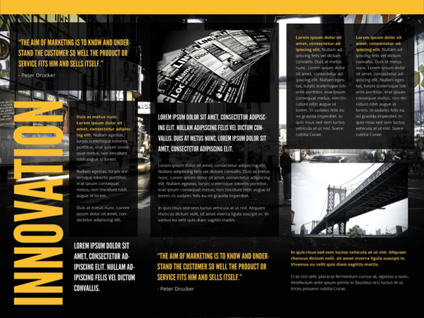 Black Marketing Brochure PSD Set
