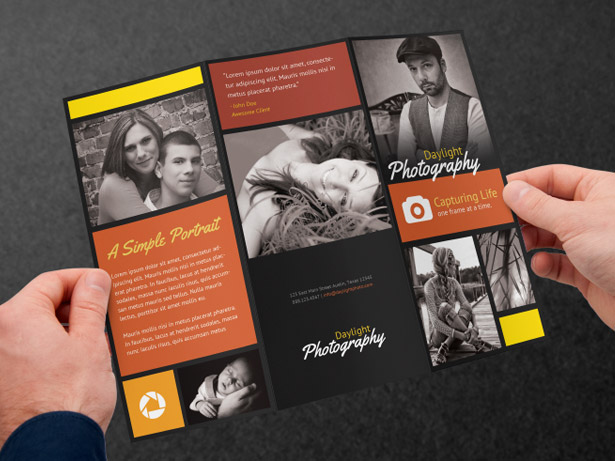 Black Photography Brochure PSD Template Pack