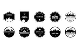 Free Outdoor and Camping Badges PSD Pack