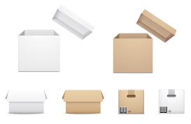 Cardboard Box Vector Pack