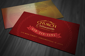 Church Business Card PSD Template Pack