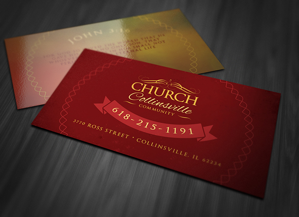 San Diego Entertainment Calendar Church Business Card PSD - Business card calendar template
