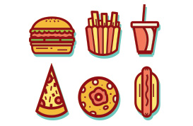 Flat & Modern Food Vector Pack