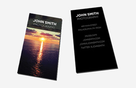 Black Photography Business Card PSD Template