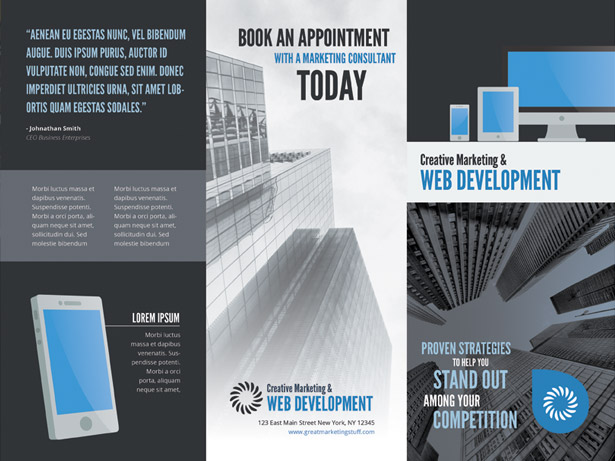 Web Development & Marketing Brochure PSD Template