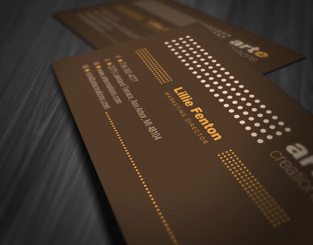 Vintage Style Business Card Template