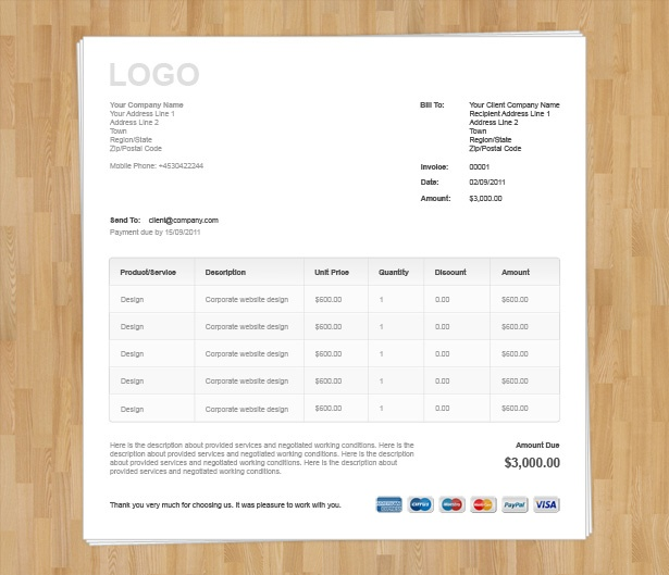 HTML Invoice Template