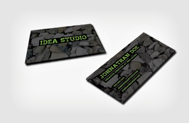 Stones Business Card Template