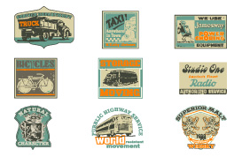 Vintage Advertising Vector Label Pack
