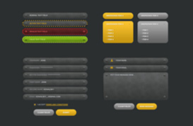 Web Forms PSD Set