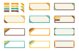 Web Ribbons Vector Set