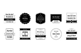Free Wedding Badges PSD Pack
