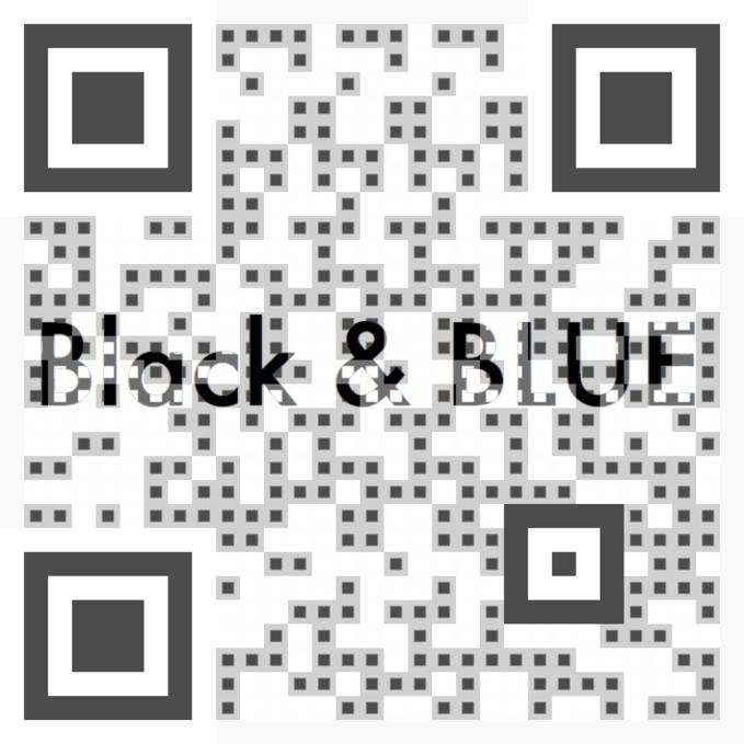 Black & Blue QR Code