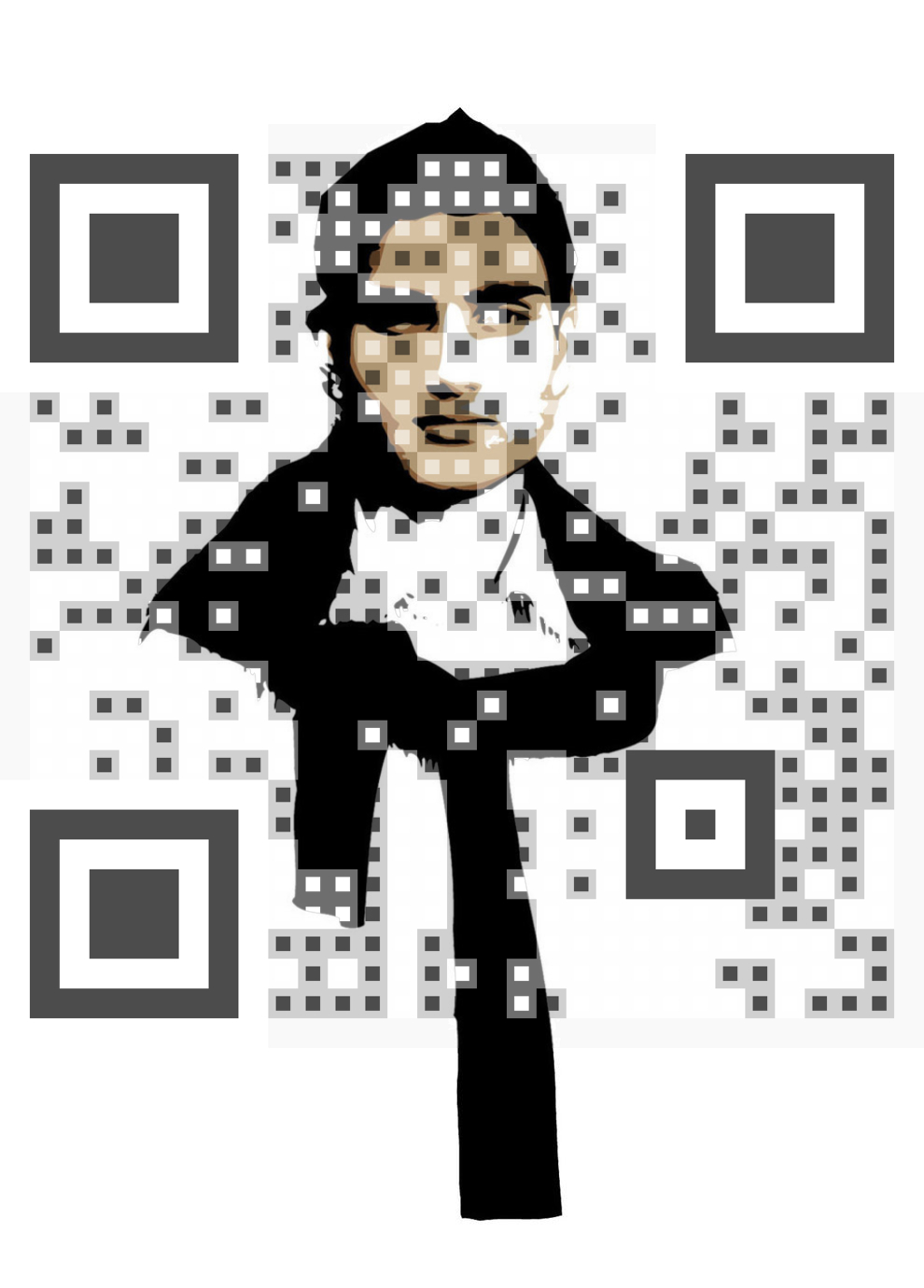 Nima Bhusal vCard QR Code
