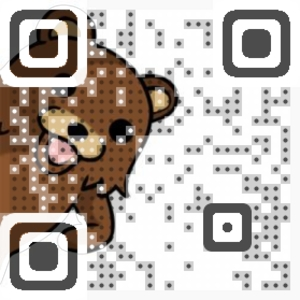 Peeping Teddy Bear QR Code