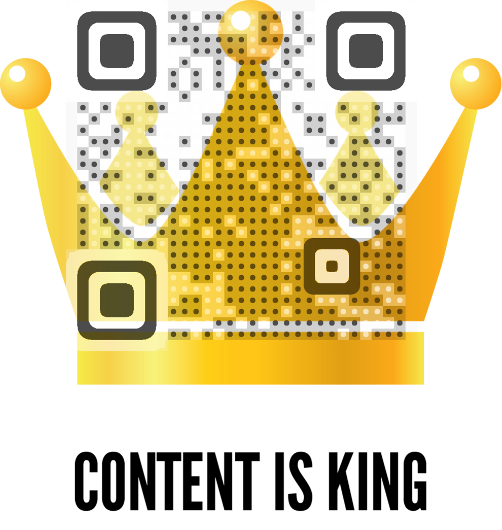 Content is King QR Code