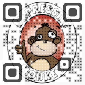 Expressive Monkey QR Code