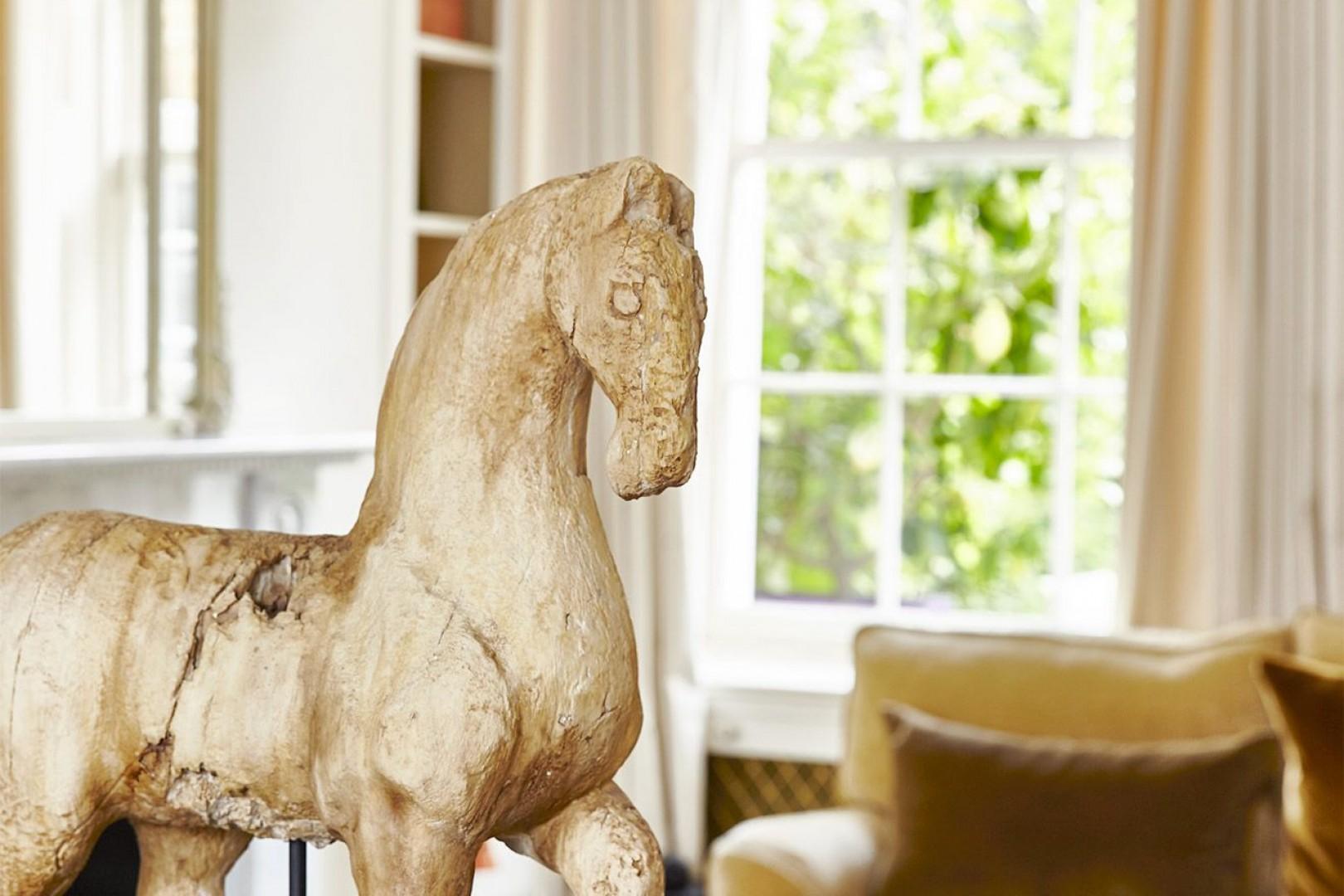 Antique horse sculpture
