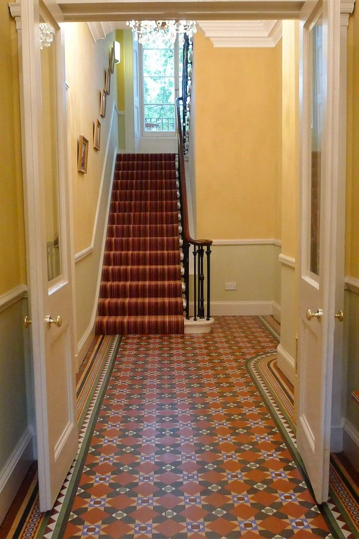 Lovely Victorian entrance with original tiles