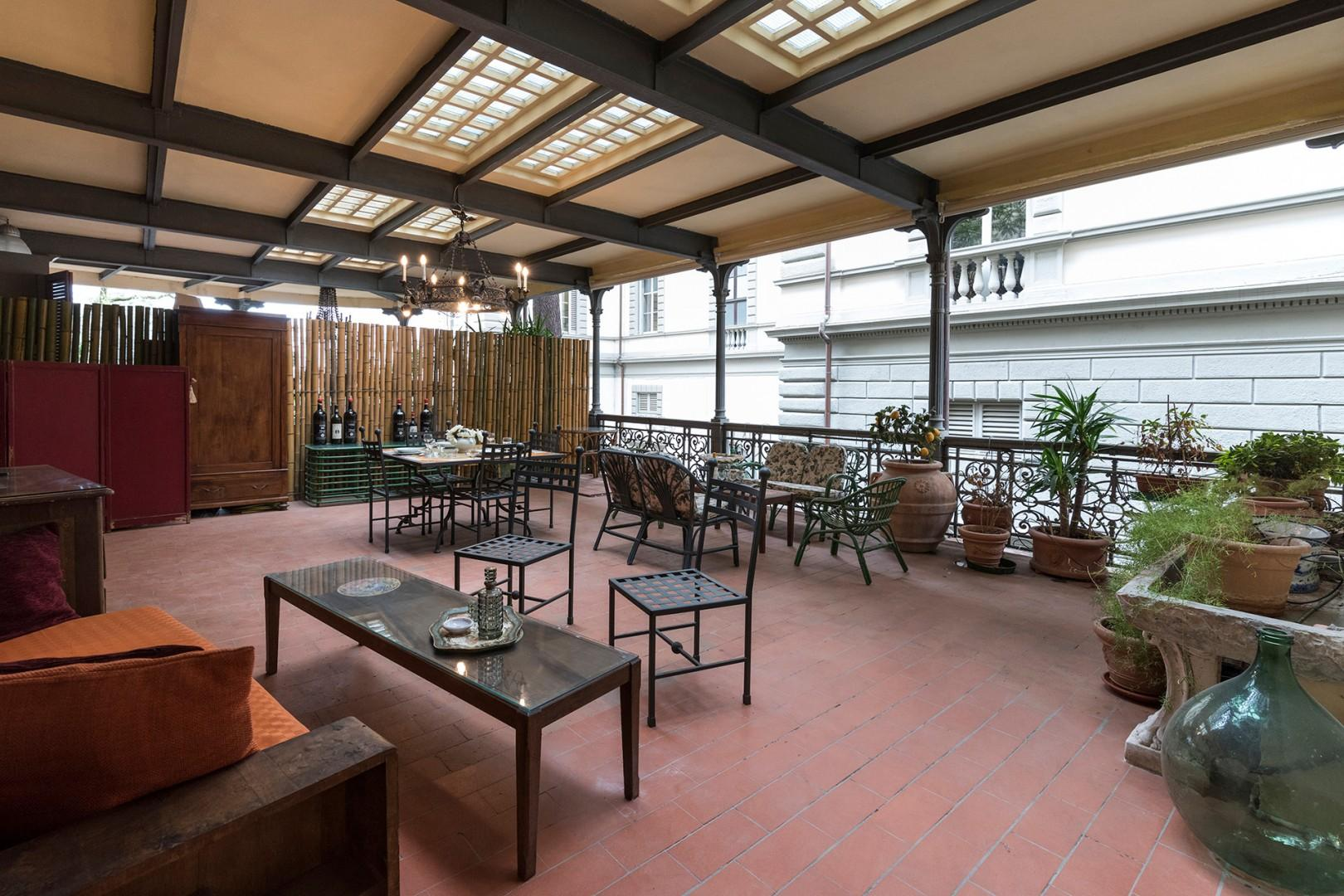 Huge terrace welcomes you to relax and unwind after a busy day of sightseeing.