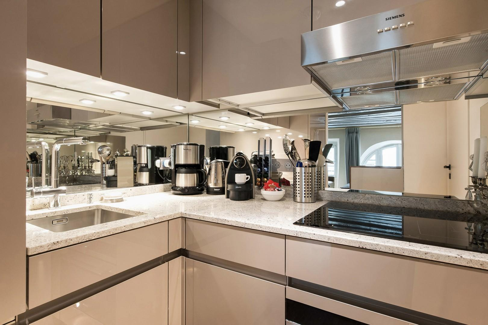 Make wonderful meals in this finely finished kitchen.