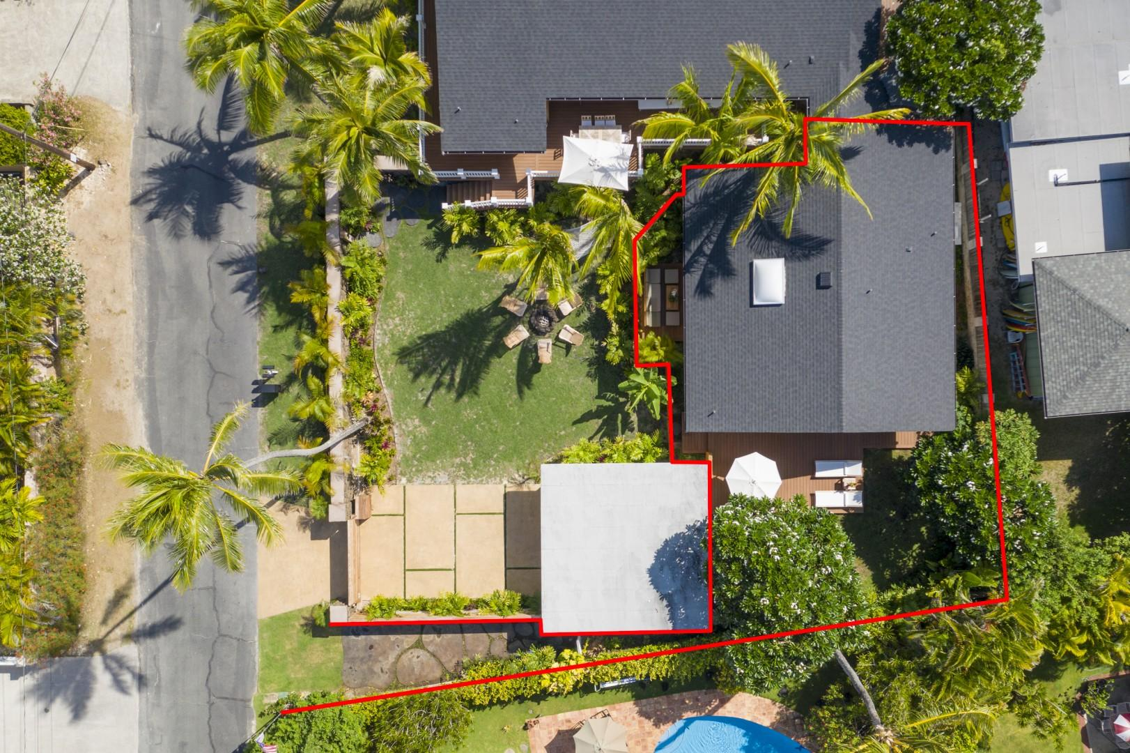Aerial View showing Parking for 1 car and private entrance to home