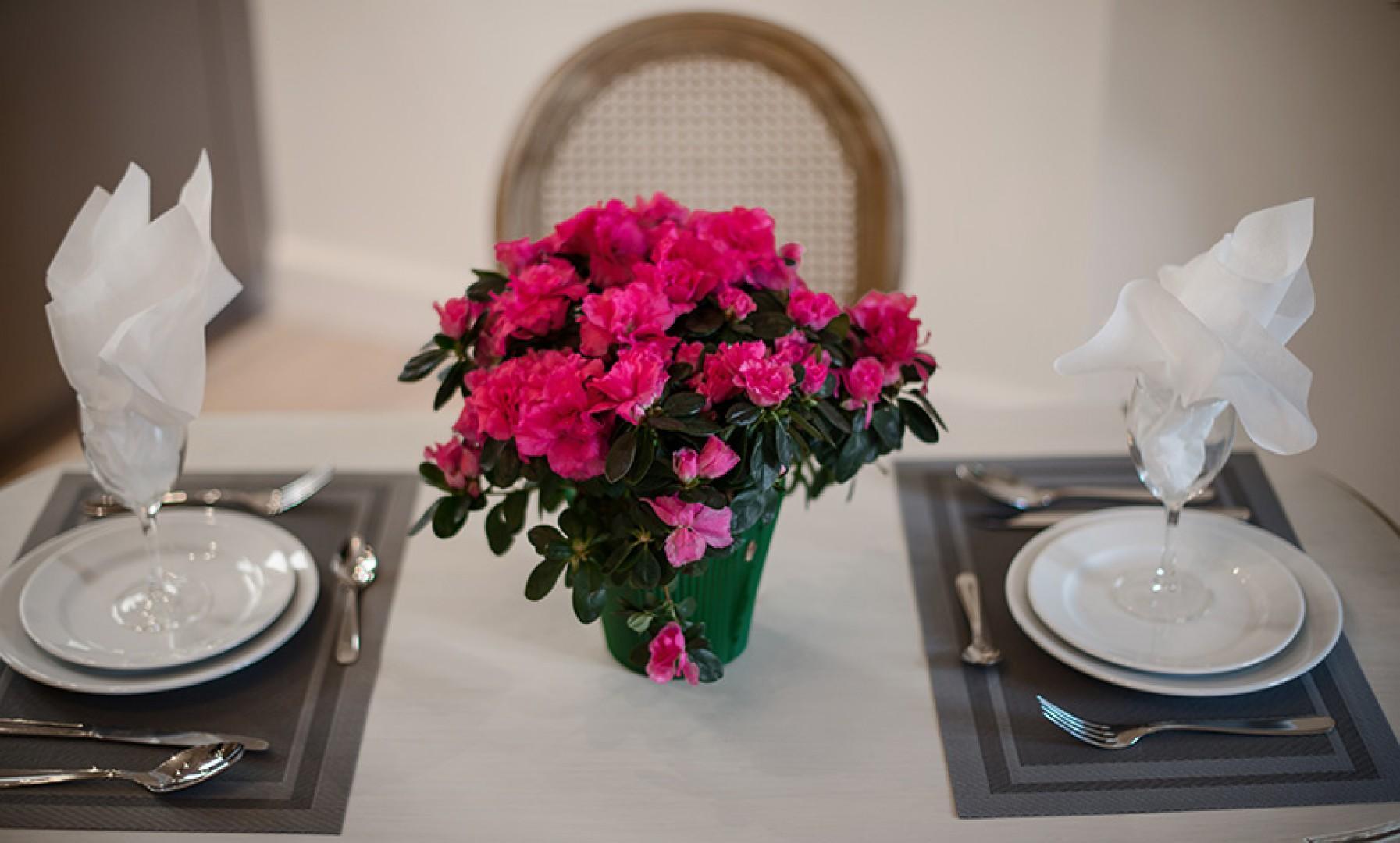 A romantic dinner setting in Paris - your apartment!