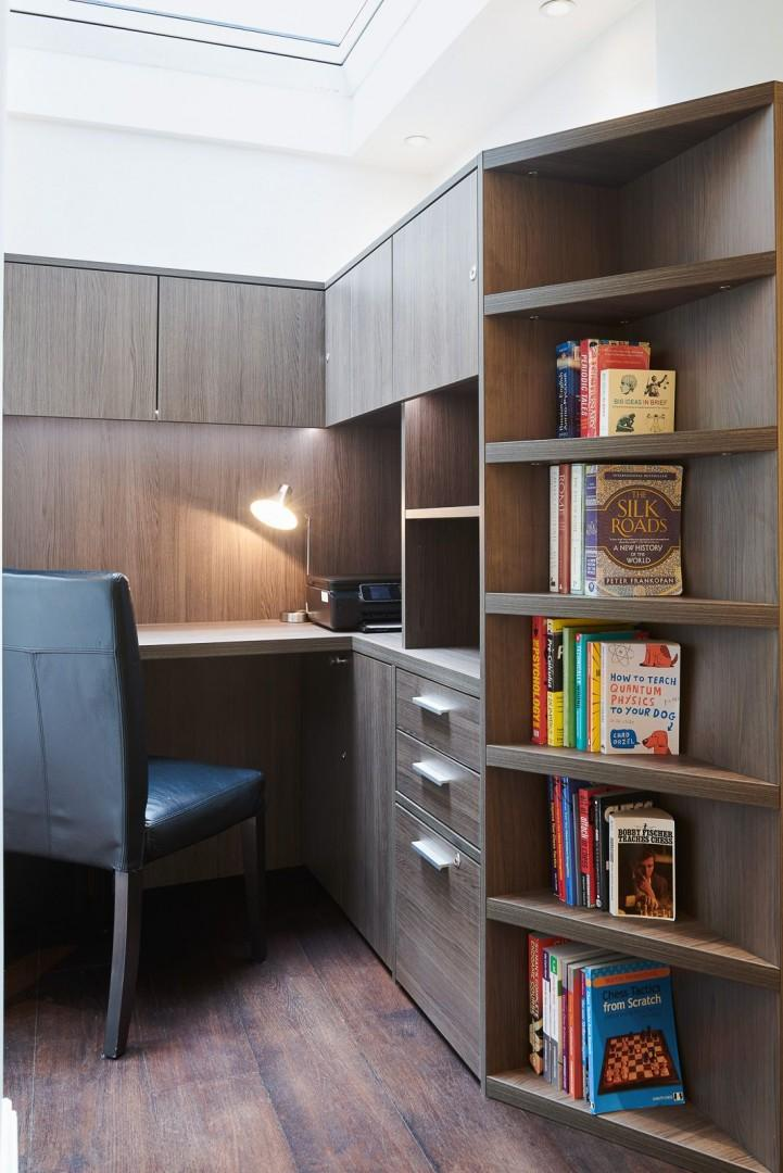 Study area with ample storage