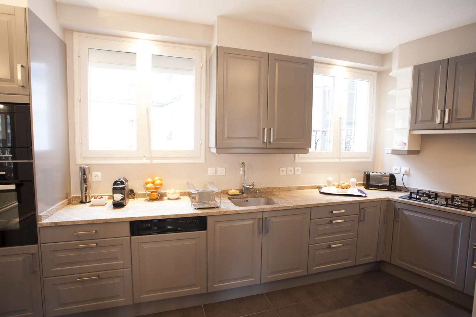 You will love preparing meals in this large and light-filled gourmet kitchen!