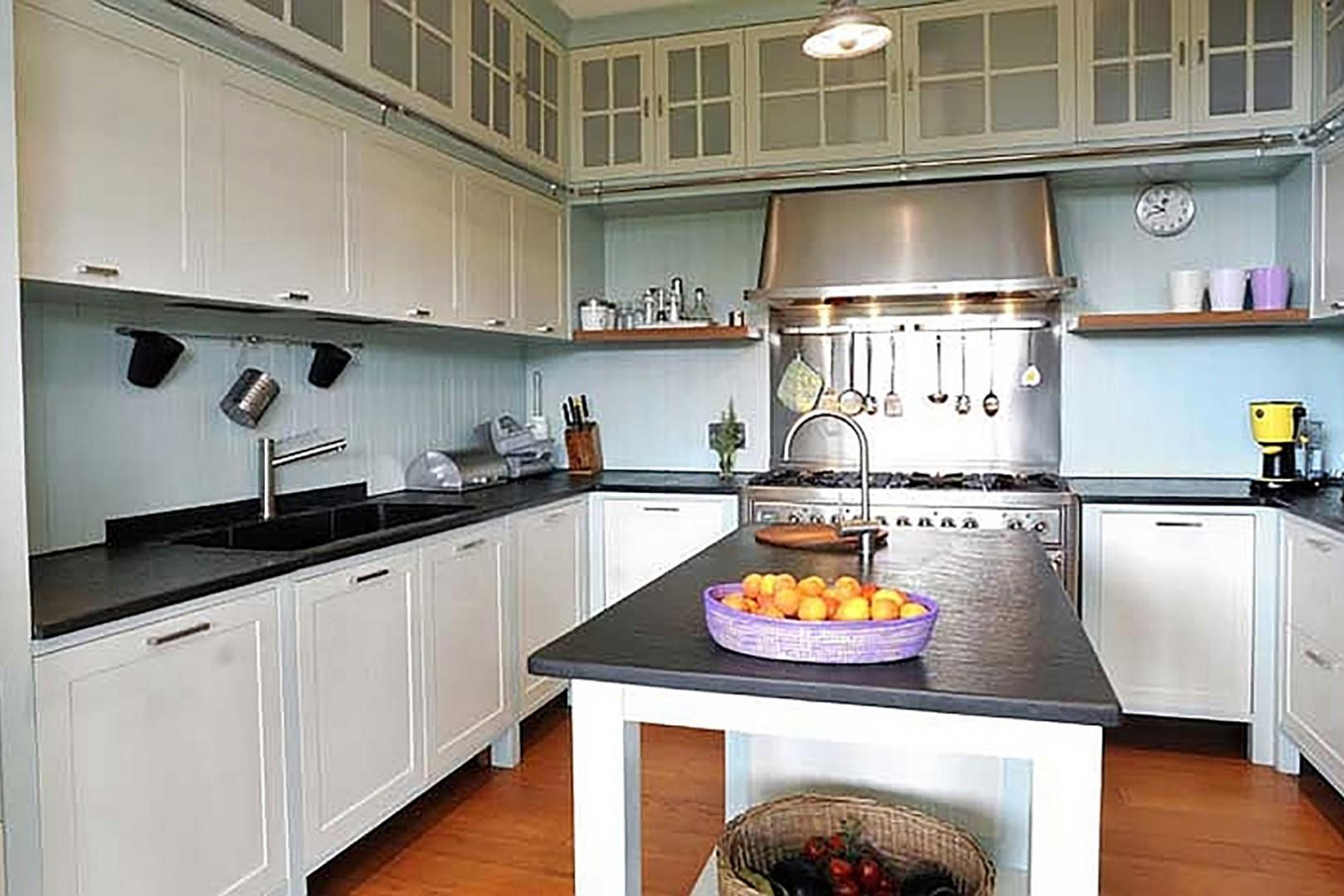 Fully appointed kitchen with high quality appliances.