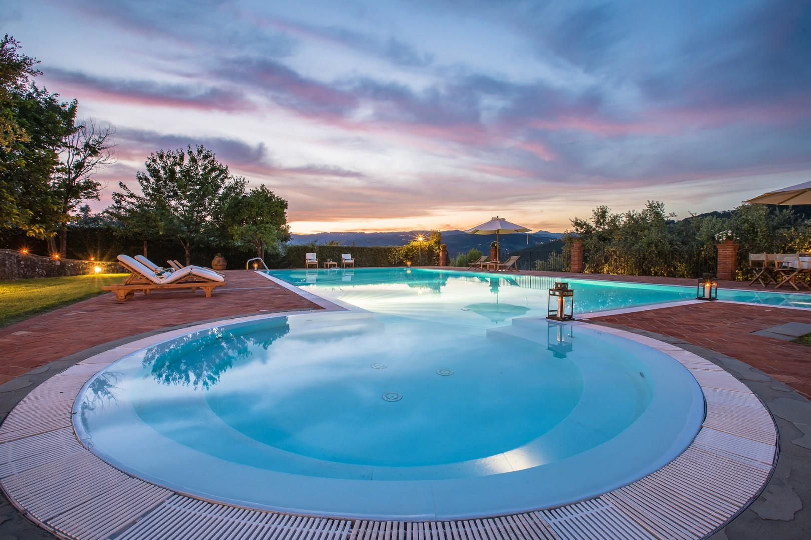 Summertime and the living is easy with this beautiful pool.