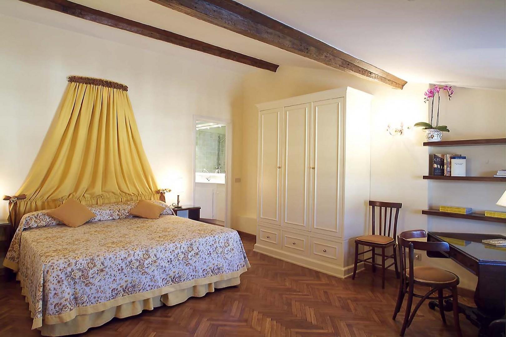 Large bedroom 1 has an en suite bathroom. A private suite.