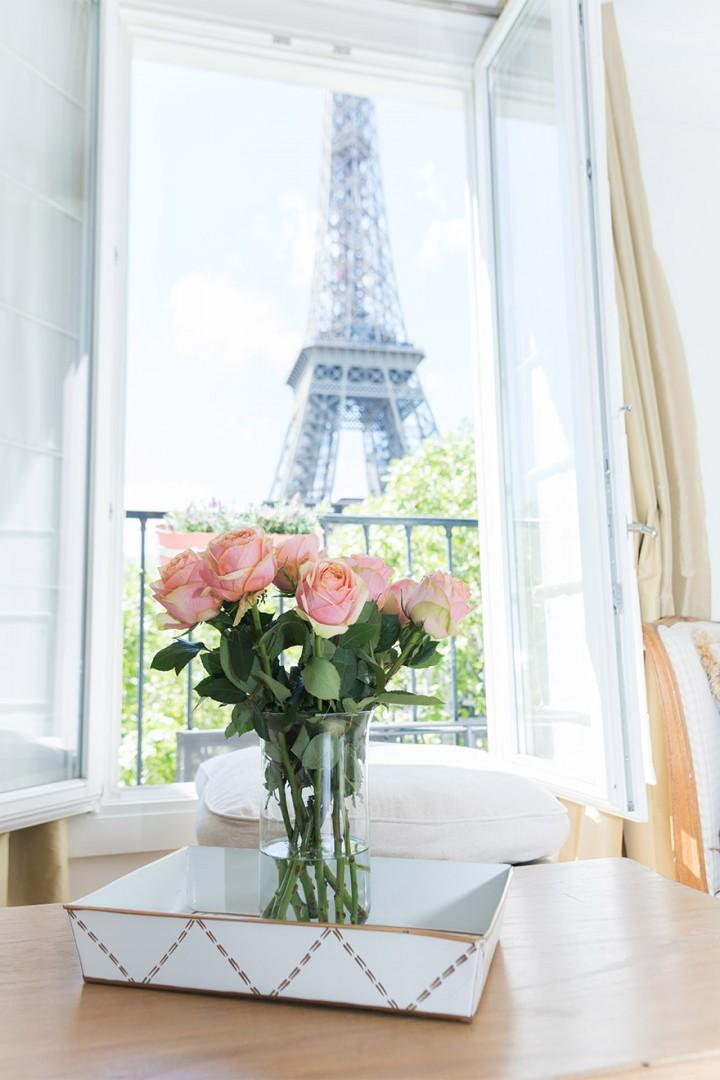 Large french windows with unbeatable views