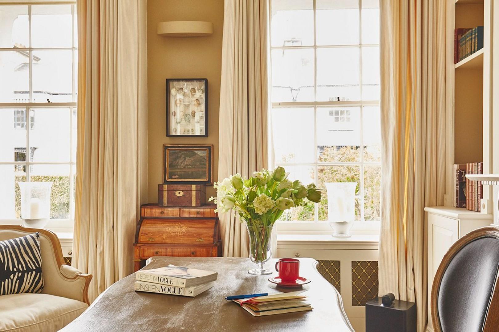 Elegant desk in the living room
